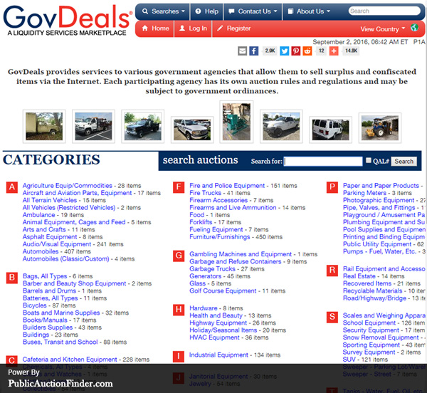 Gov Deals Com – Lamoureph Blog