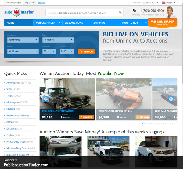 Top 10 salvage auto auction sites public auction finder for Best online sale sites