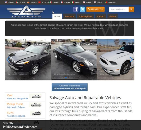 Insurance Auto Auction Salvage >> Top 10 Salvage Auto Auction Sites Public Auction Finder