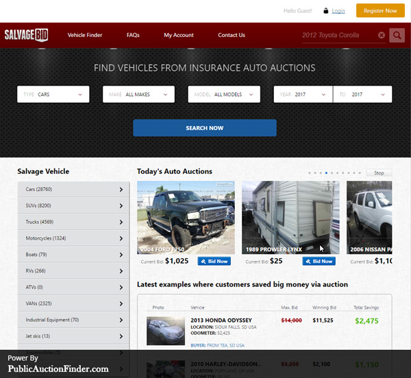 Buying Salvage Cars