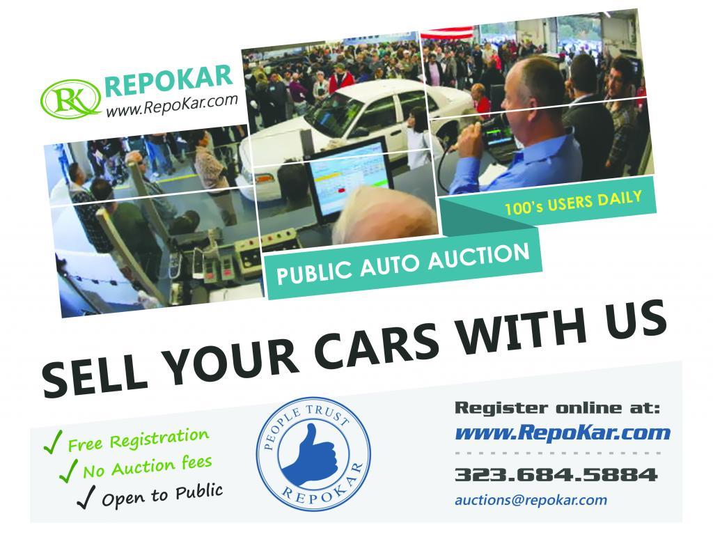 Online Public Car Auction Repokar Los Angeles California