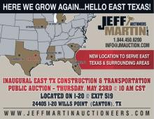 Inaugural-East-TX-Construction--Transportation-Auction on Public Auction Finder
